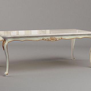 高档法式餐桌3d模型