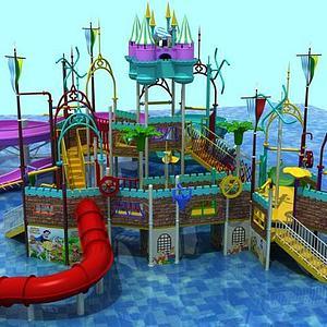儿童乐园滑梯模型