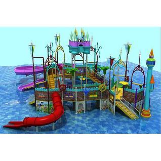 儿童乐园滑梯3d模型