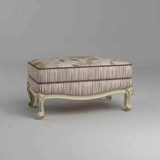 欧式沙发凳3d模型