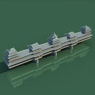 恩施风雨桥3d模型