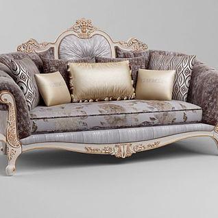 奢华法式沙发3d模型