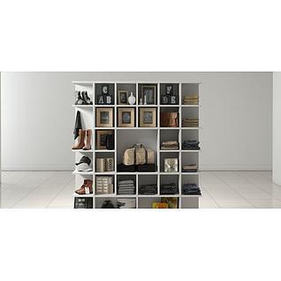 服装店展示货柜3d模型