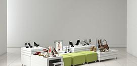 鞋店展示货柜模型