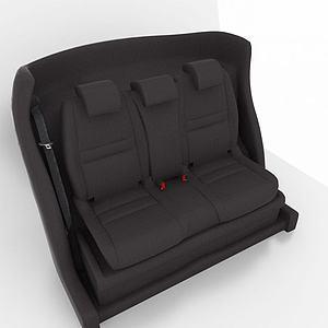 黑色汽车座椅模型