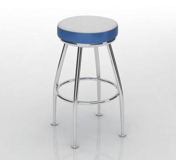 蓝白拼色高脚凳