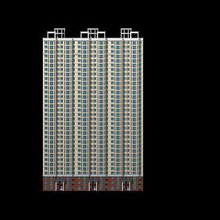高层楼房建筑3d模型