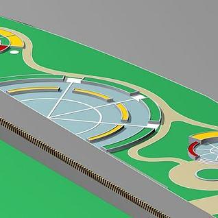公路景观台3d模型