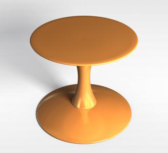 棕色洽谈圆桌