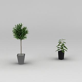 庭院<font class='myIsRed'>绿植盆栽</font>3d模型