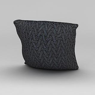 简单印花抱枕3d模型