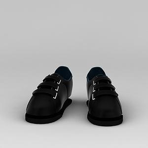 黑色鞋子模型3d模型