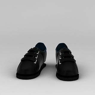 黑色鞋子3d模型