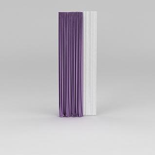 紫色窗帘3d模型