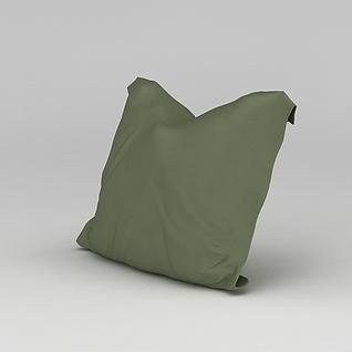 绿色沙发抱枕3d模型