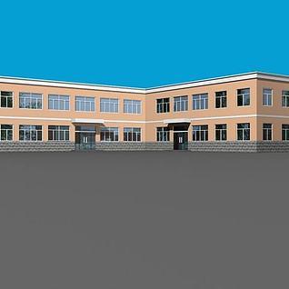 部队办公楼3d模型