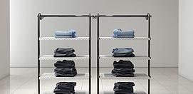 商场服装展架模型