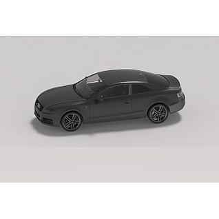 奥迪小汽车3d模型