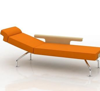 橘色休闲躺椅