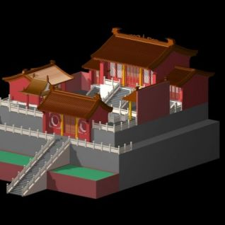 圣母庙3d模型