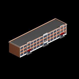 学校教学楼3d模型