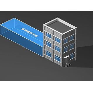 宿舍楼3d模型