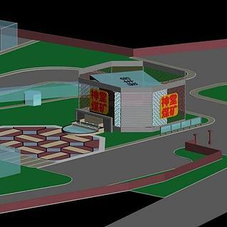 工厂广场3d模型