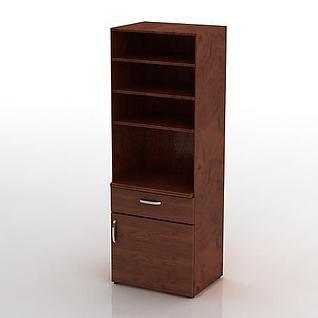 书房柜子3d模型