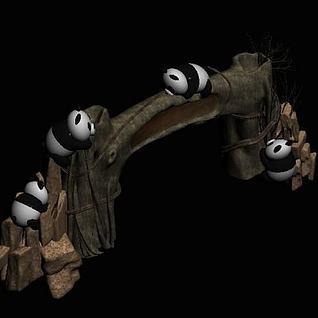 动物园大门3d模型
