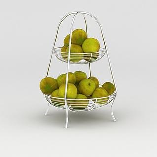 不锈钢水果篮3d模型3d模型