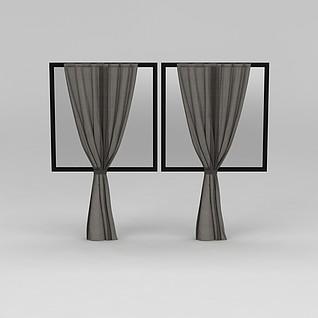 室内窗帘3d模型