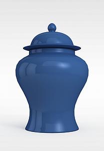 藍色壇子模型3d模型