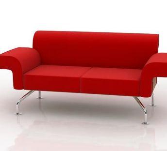 红色长沙发