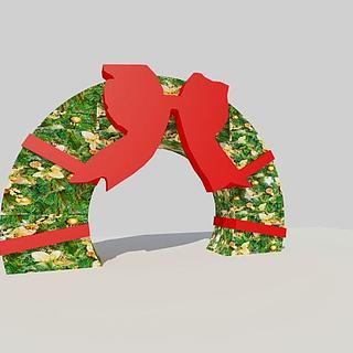 蝴蝶造型<font class='myIsRed'>圣诞</font>拱门3d模型