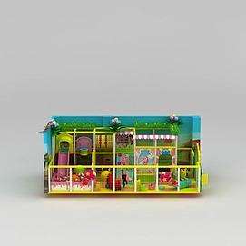 儿童游乐场淘气堡模型