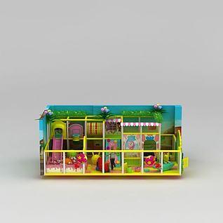 儿童游乐场淘气堡3d模型