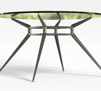 时尚玻璃圆桌