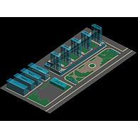广场设计3D模型3d模型