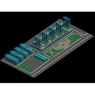 广场设计3d模型