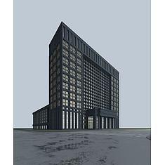 酒店建筑3D模型3d模型