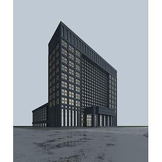 酒店建筑3d模型