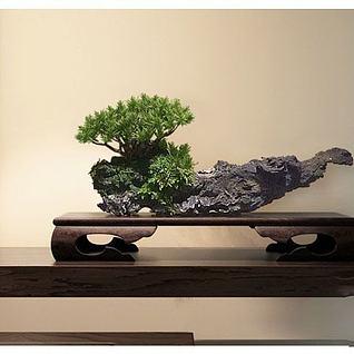 中式木雕摆件3d模型