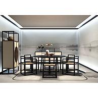 新中式餐桌椅3D模型3d模型