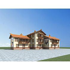 彝族民居3D模型3d模型