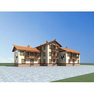 彝族民居3d模型