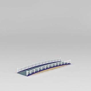 小河木桥3d模型3d模型