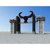 彝族大门3D模型3d模型