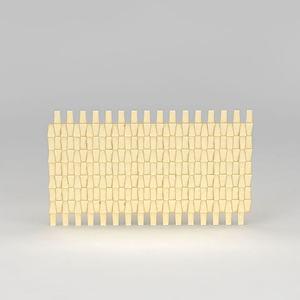金黄色背景墙模型