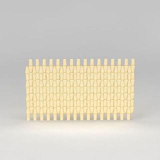 金黄色背景墙3d模型