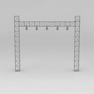 3d舞台灯光架模型
